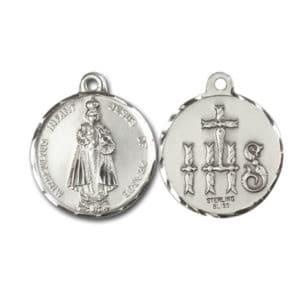 Miraculous Infant Jesus of Prague Medal Pendant