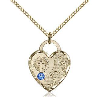 Sapphire Swarovski Crystal September Birthstone Necklace