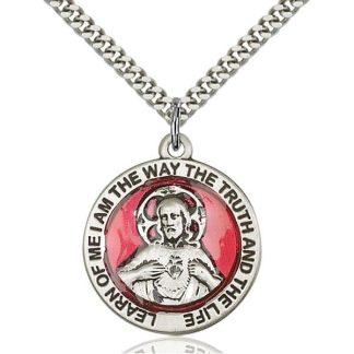 Sacred Heart of Jesus Scapular Medal Pendant