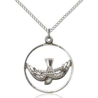 Holy Spirit as a Dove Medal Pendant
