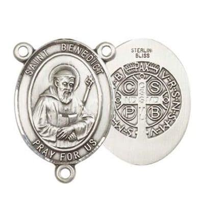 Saint Benedict Medal Rosary Centerpiece