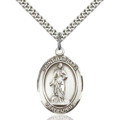 St Barbara Pendant Necklace