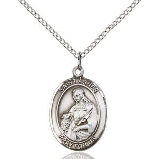 St Agnes of Rome Medal Pendant
