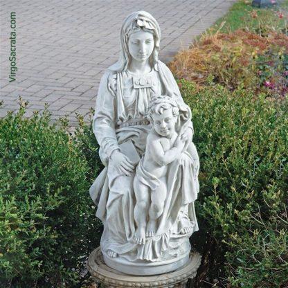 Madonna of Bruges Garden Statue