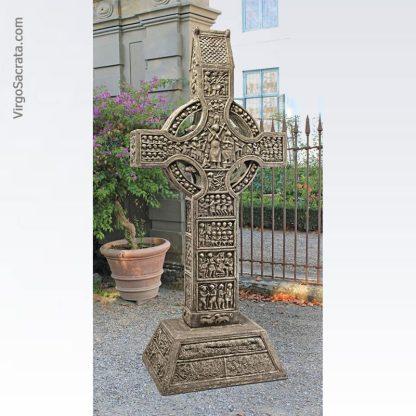 Muiredach High Celtic Cross - Irish High Cross Replica Statue