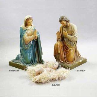 Nativity Set of Statues of Jesus Mary And Joseph