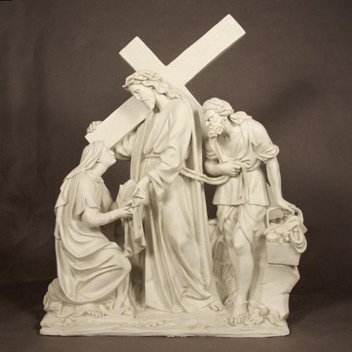 Jesus Meets Veronica Station 6 Wall Sculpture
