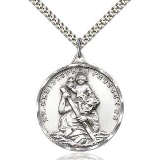 Saint Christopher Protection Medal Pendant