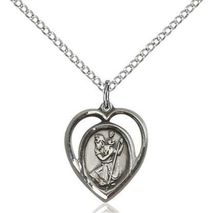 St Christopher Women's Pendant Necklace