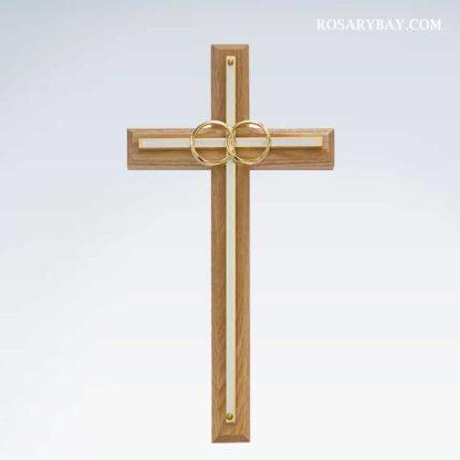 Wedding Rings Wall Cross