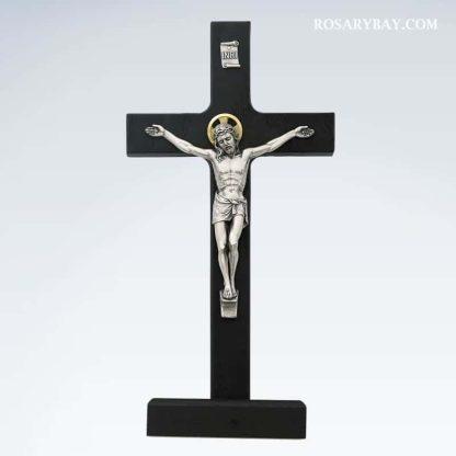 Black Standing Crucifix