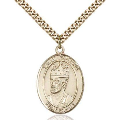 St Edward. King of England Gold Medal