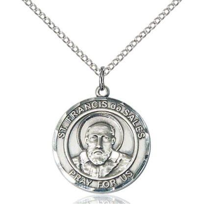 St Francis de Sales Sterling Silver Pendant