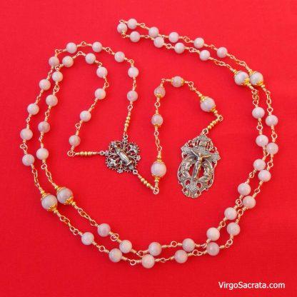 Kunzite Semiprecious Gemstone-Rosary