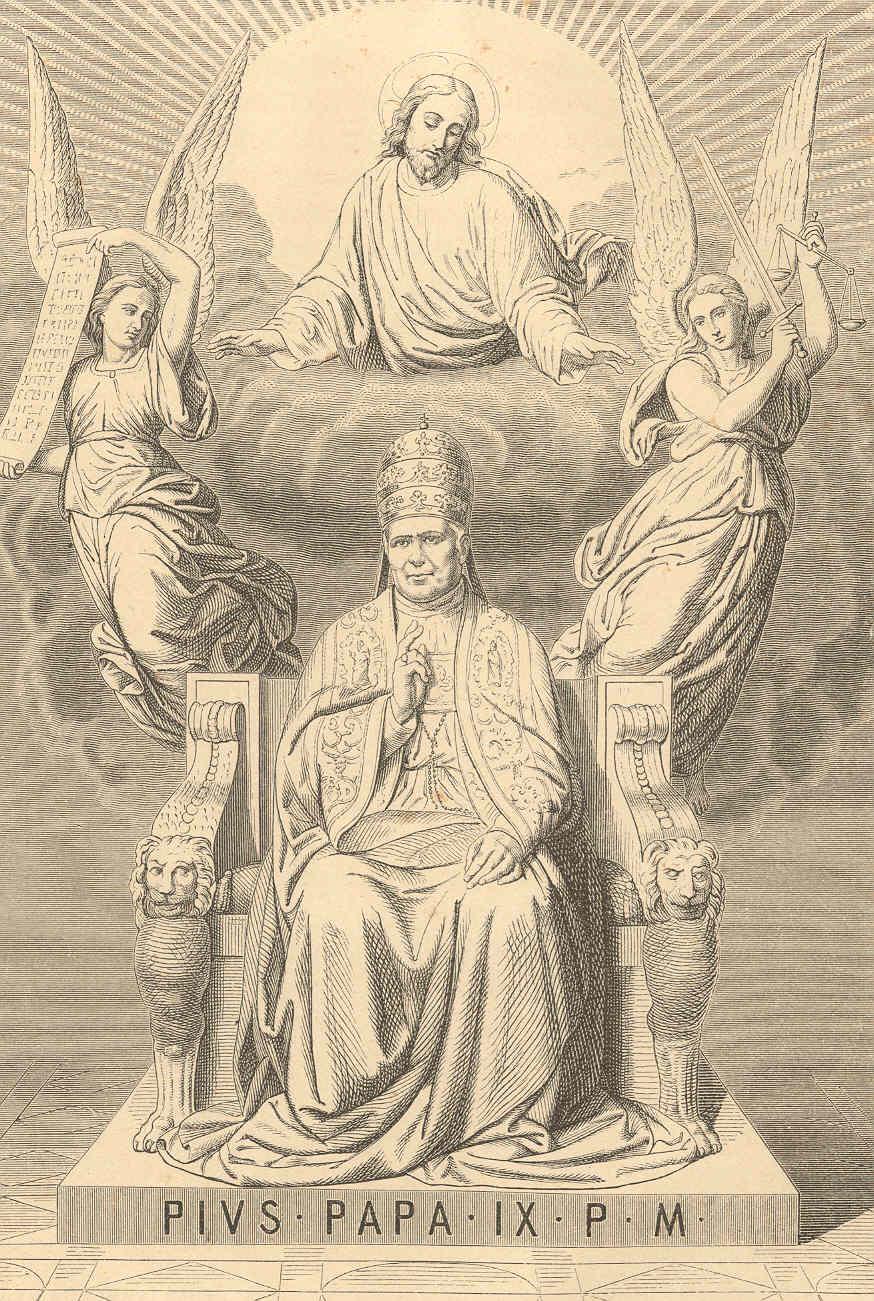 A hagiographic presentation of Pius IX from 1873