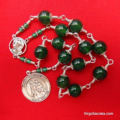 Green Onyx Chaplet of Saint Raphael the Archangel