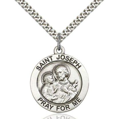 """""""St Joseph Pray for Me"""" Medal Pendant"""