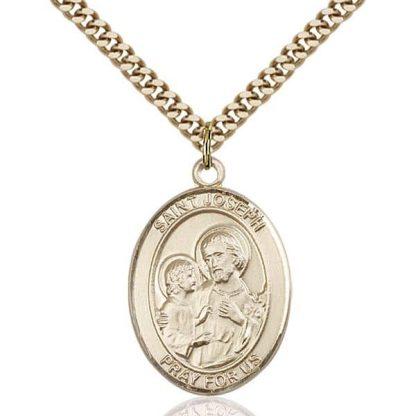 St Joseph Gold Pendant