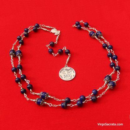 St Michael Chaplet Gemstones Lapis Lazuli