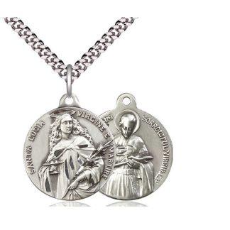 St. Lucia of Syracuse (Saint Lucy) Religious Pendant