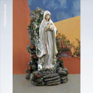 Blessed Virgin Mary Illuminated Garden Grotto Sculpture