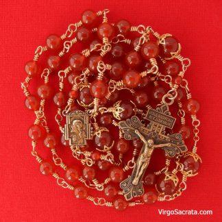 carnelian gemstone rosary