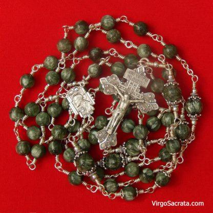 Seraphinite Gemstone Rosary