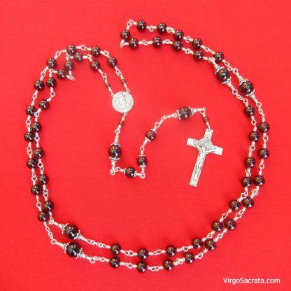 Saint Benedict Garnet Rosary
