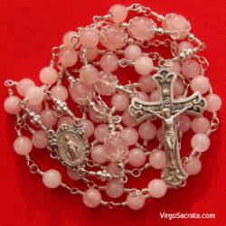 Miraculous Medal Rose Quartz Rosary