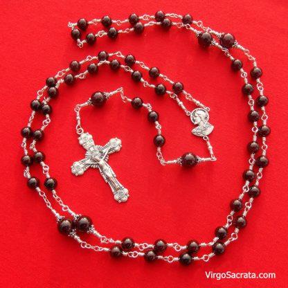 Garnet beads rosary