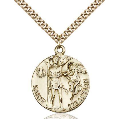 St Sebastian Gold Pendant