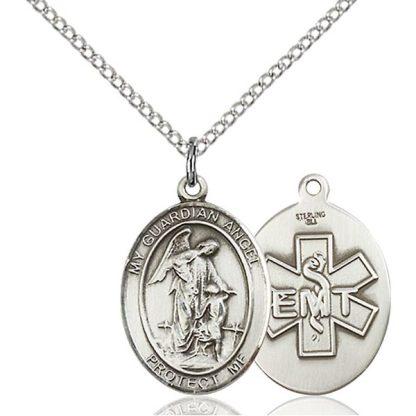 Guardian Angel Medal Pendant for Emergency Medical Technicians