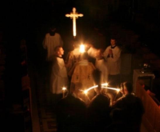 Holy Saturday Easter Vigil ceremonies