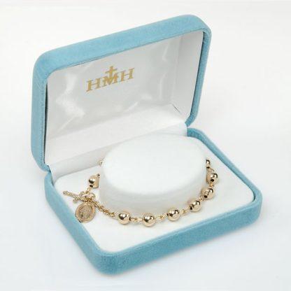 Gold Rosary Bracelet