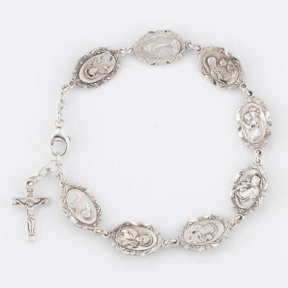 Bracelet with Patron Saint Medals