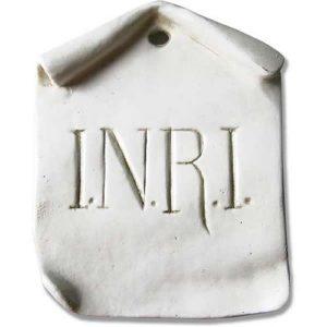 INRI Sign Plaque