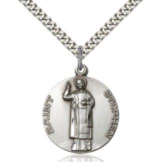 St Stephen Sterling Silver Pendant